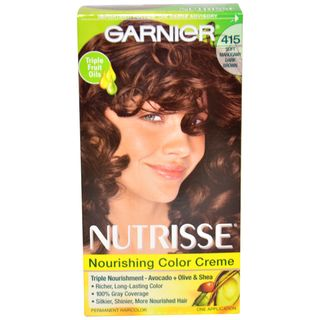 Garnier Nutrisse Nourishing Color Creme Soft Mahogany Dark Brown Hair
