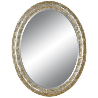 Oval Framed Silver Wall Mirror