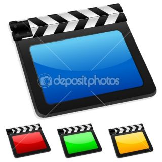 Digital film slate  Stock Vector © Yuliyan Velchev #5049838