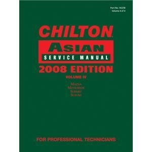 Chiltons Book (CHI142218) Chilton 2008 Asian Service Manual Volume 4