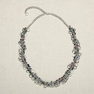 Glass Round and Round Beaded Necklace (India)