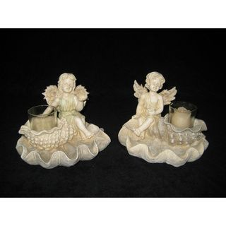 Fairy Clam Shell Candle Holders (Set of 2)