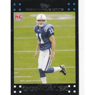 2007 Topps Football # 326 Anthony Gonzalez (RC) Rookie