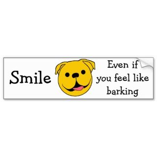 Dog Smiley Bumper Sticker