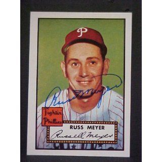 Russ Meyer (D) Philadelphia Phillies #339 1952 Topps Reprint Series
