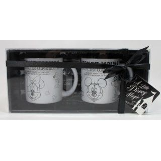 Disney Mickey & Minnie Mouse Character Construction Coffee/Tea Mug Set