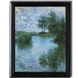 Claude Monet Vetheuil Framed Canvas Art