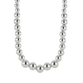 Sunstone Sterling Silver Graduated Bead Necklace