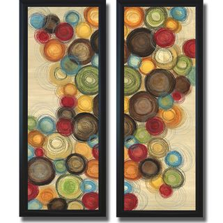 Jeni Lee Wednesday Whimsy I and II Framed 2 piece Canvas Art Set