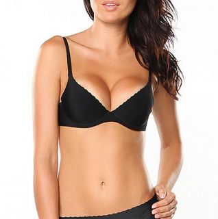 Donna di Capri Womens Black Seamless Push up Demi Bra Today $21.99 4