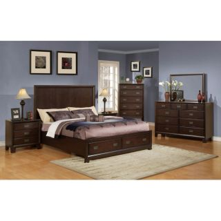 Acme Cappucino Finish Queen Bed with Storage