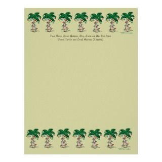 Christmas Palm Tree Stationery Customized Letterhead
