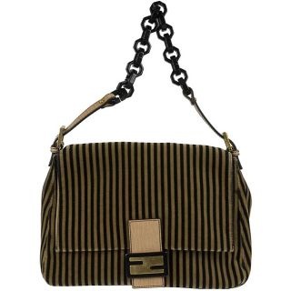 Fendi Black/Brown Suede Mama Bag Handbag