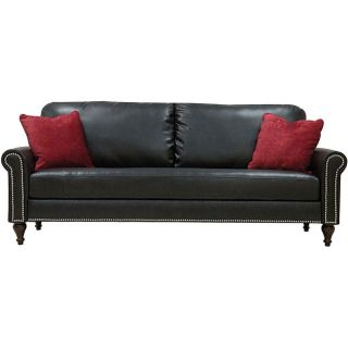 James Black Renu Leather Rolled Arm Sofa