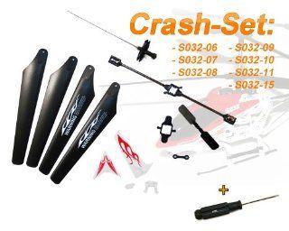 Crash Set 10 Teilig! Ersatzteile inkl. Schraubendreher Syma S032