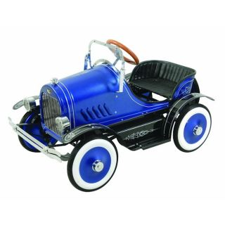 Deluxe Roadster Blue Pedal Car