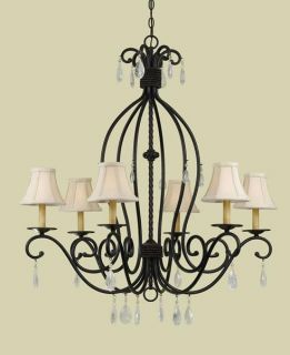 Morgan 6 light Bronze Chandelier