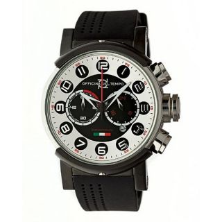 Officina Del Tempo Block Chronograph Silvertone Dial Watch