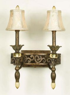 Baltic Aged Antique Gold 2 light Sconce