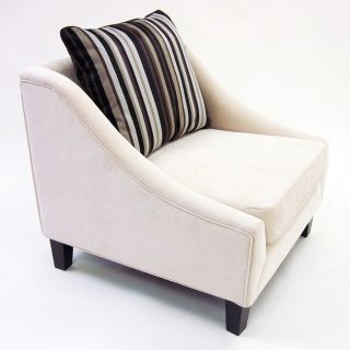 Retro Modern Cream Fabric Chair