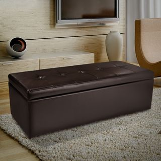 Christopher Knight HomeAbigail Brown Leather Storage Ottoman