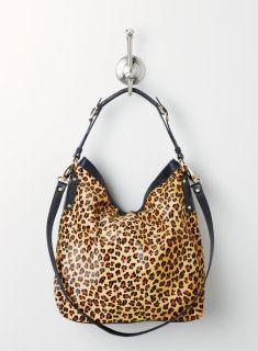 Luciana Verde Leopard Hobo W.Buckle Strap