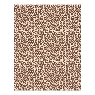 Safari Boy Scrapbook Paper Cheetah Letterhead Design