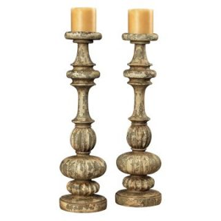 Sterling Flemish Carved Candle Holders   Candle Holders