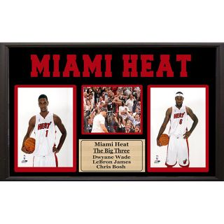 Miami Heat Wade, James and Bosh Nameplate (15 x 35)