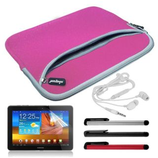 SKQUE Samsung Galaxy Tab 10.1 Dual Case/ Stylus/ Earphone/Mic/ Screen