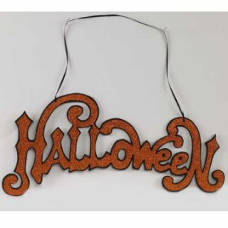 Interiors 19 in. Orange Halloween Cutout Sign