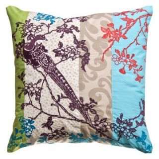 Koko Company 20 in. Wallpaper Square Pillow   Decorative Pillows at