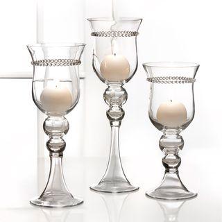 Fifth Avenue Crystal Elizabeth Candle Holders (Set of 3)
