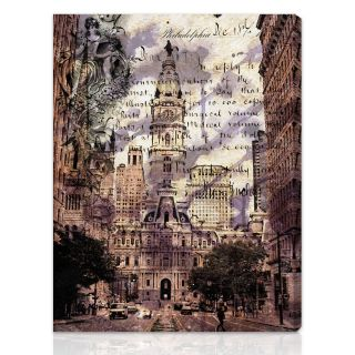 Oliver Gal Artist Co. Philadelphia Town Hall Gallery wrapped Canvas