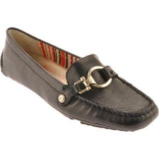 Womens Anne Klein Grandly Black Leather