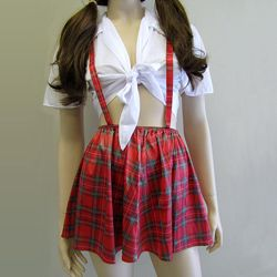 Catholic School Girl Red Adult Costume