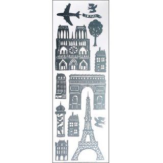 Nouvelles Vinyl Skyline Paris Window Decals