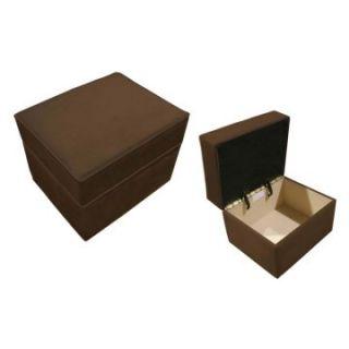 Harmony Kids Storage Ottoman   Chocolate Microsuede