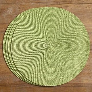 Victorian Round Green Leaf Placemats (Set of 4)