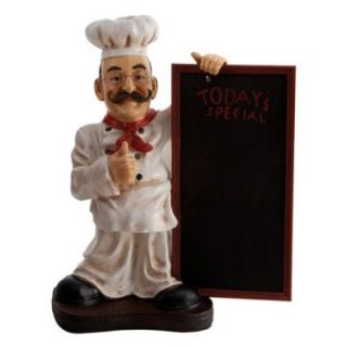 Aspire 25H in. Restaurant Chef Statue with Todays Specials