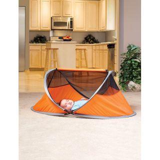 KidCo Peapod Lite Travel Bed in Tangerine