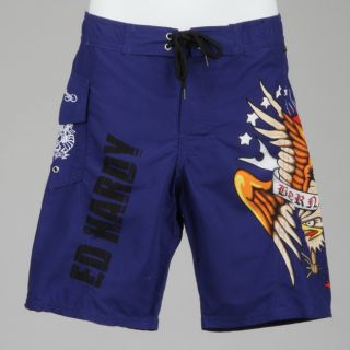 Ed Hardy Boys Eagle Print Board Shorts