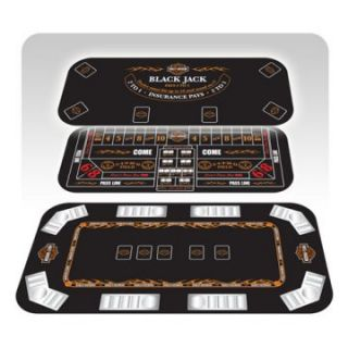 Harley Davidson 3 in 1 Poker Table Top   Poker Tables