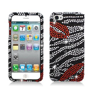 BasAcc Full Diamonds Zebra/ Lips Case for Apple iPhone 5