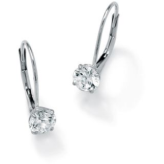 Ultimate CZ 10k White Gold Cubic Zirconia Earrings