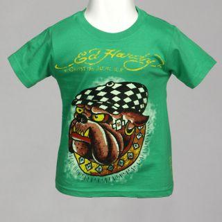 Ed Hardy Boys Bulldog T Shirt