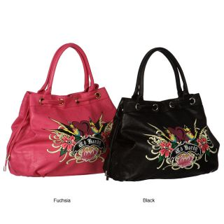 Ed Hardy Hearts and Flowers Tote Bag