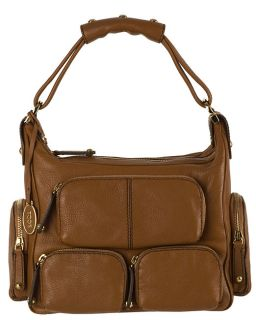 Tods Leather Hobo Bag with Multi Exterior Pockets