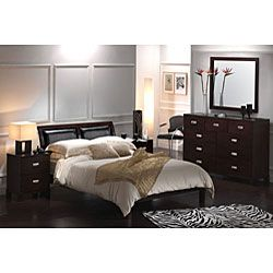 Leather Headboard Bicast Leather Platform Queen Bed