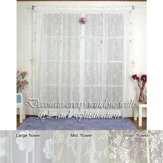 Jacquard Flower 84 inch Sheer Lace Curtains